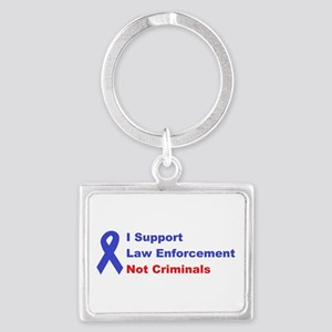 support law enforcement Landscape Keychain