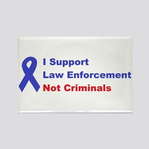 support law enforcement Rectangle Magnet (10 pack)