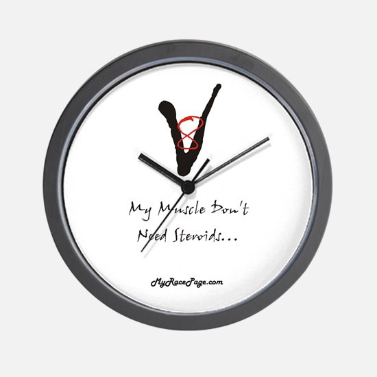 My Muscle Don't Need Steroids Wall Clock
