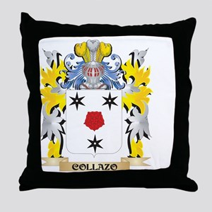 Collazo Coat of Arms - Family Crest Throw Pillow
