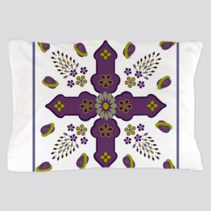 Flowering Spring of Life eggs ribbon square Pillow