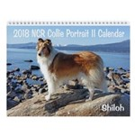 2018 Ncr Collie Portrait Ii Wall Calendar