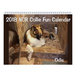 2018 Ncr Collie Fun Wall Calendar