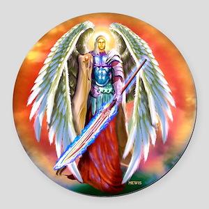 Angel Michael Round Car Magnet