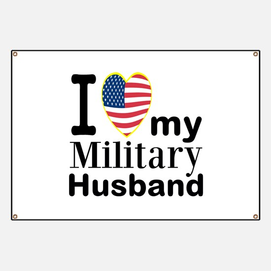 Personalizable American Military Heart Banner