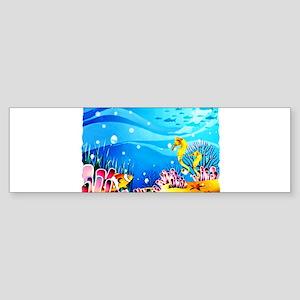 Undersea Coral, Fish Seahorses Bumper Sticker