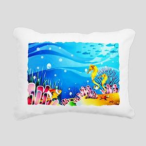 Undersea Coral, Fish Rectangular Canvas Pillow