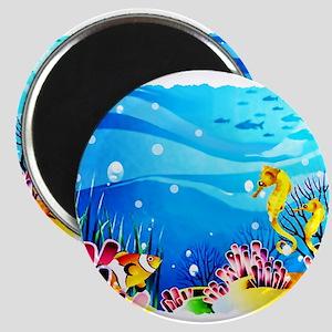 Undersea Coral, Fish Seahorses Magnets