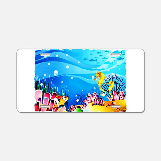 Undersea Coral, Fish Sea Aluminum License Plate