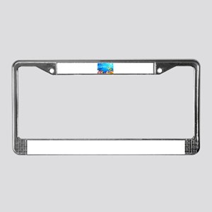 Undersea Coral, Fish Seahor License Plate Frame