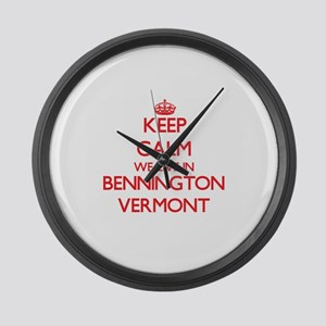Keep calm we live in Bennington V Large Wall Clock