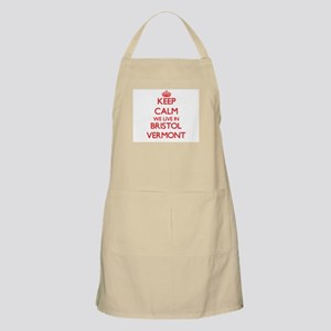 Keep calm we live in Bristol Vermont Apron