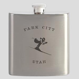 Park City Utah Ski Flask