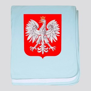 Polska Football Coat of Arms Euro 201 baby blanket