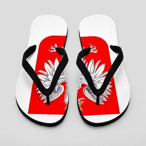 Polska Football Coat of Arms Euro 2012 Flip Flops