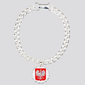 Polska Football Coat of Charm Bracelet, One Charm