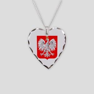 Polska Football Coat of Arms Necklace Heart Charm