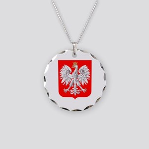 Polska Football Coat of Arms Necklace Circle Charm