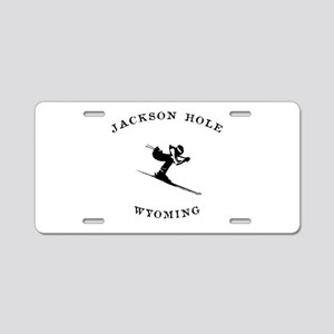 Jackson Hole Wyoming Ski Aluminum License Plate