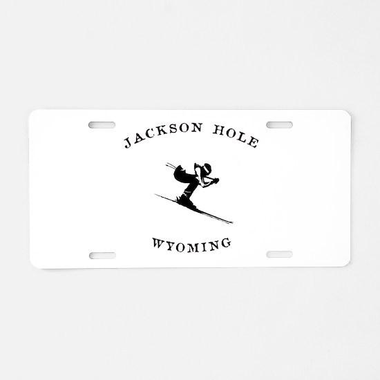 Jackson Hole Wyoming Ski Aluminum License Plate