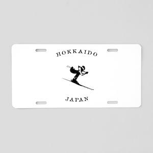 Hokkaido Japan Ski Aluminum License Plate