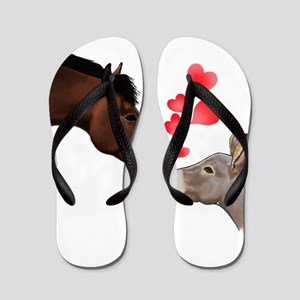 will you be my valentine Flip Flops