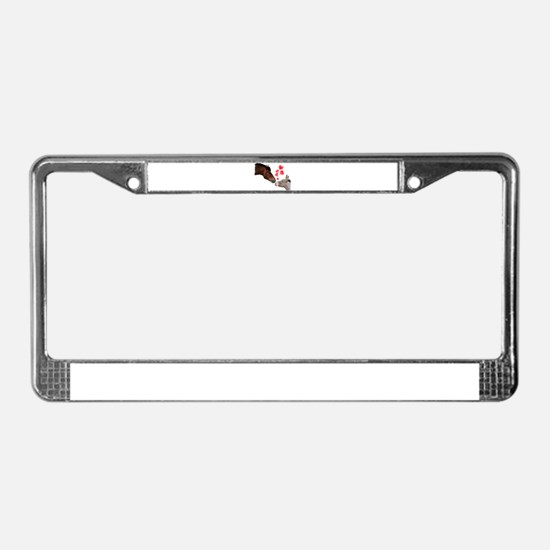 will you be my valentine License Plate Frame