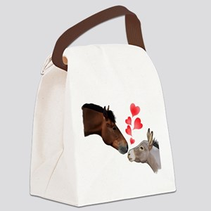 will you be my valentine Canvas Lunch Bag