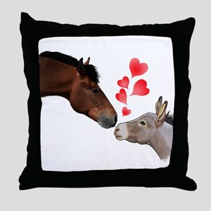 will you be my valentine Throw Pillow