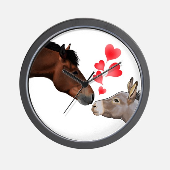 will you be my valentine Wall Clock