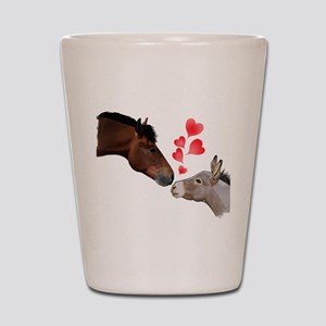 will you be my valentine Shot Glass
