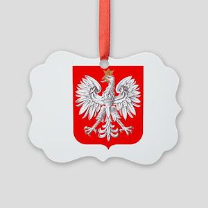 Polska Football Coat of Arms Euro Picture Ornament