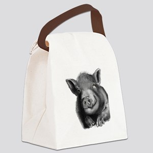 Lucy the wonder pig Canvas Lunch Bag