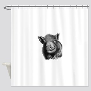 Lucy the wonder pig Shower Curtain