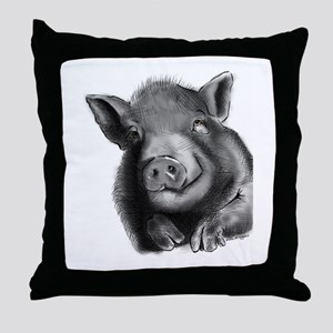 Lucy the wonder pig Throw Pillow