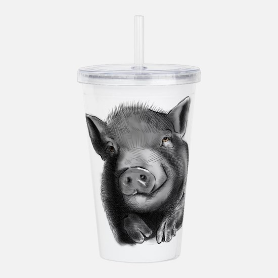 Lucy the wonder pig Acrylic Double-wall Tumbler