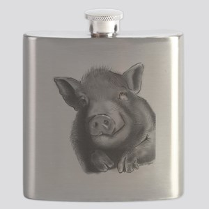 Lucy the wonder pig Flask