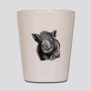 Lucy the wonder pig Shot Glass