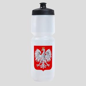 Polska Football Coat of Arms Euro 20 Sports Bottle