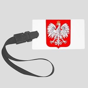 Polska Football Coat of Arms Eur Large Luggage Tag