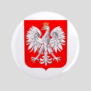 "Polska Football Coat of Arms Euro 2012 3.5"" Button"