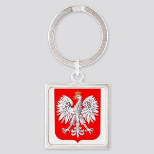 Polska Football Coat of Arms Euro 2012 T Keychains