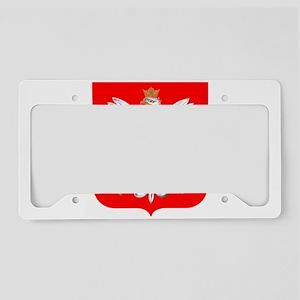 Polska Football Coat of Arms License Plate Holder