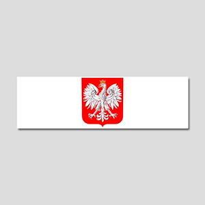 Polska Football Coat of Arms Eur Car Magnet 10 x 3
