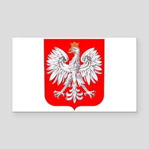 Polska Football Coat of Arms Rectangle Car Magnet