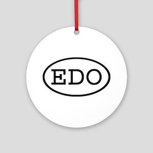 EDO Oval Ornament (Round)