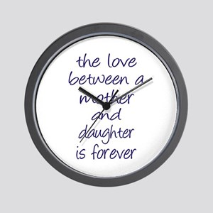 Mother Daughter Love Wall Clock