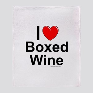 Boxed Wine Throw Blanket