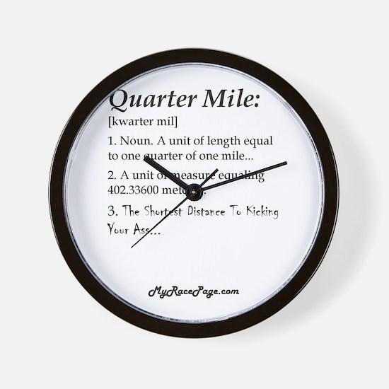 Quarter Mile Wall Clock