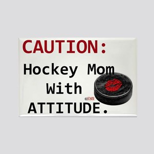 Hockey Mom With Attitude Rectangle Magnet Magnets